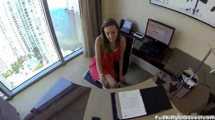 Красотка на собеседовании на должность секретарши поработала с хуем будущего директора №4