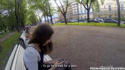 Турист соблазнил во время пикапа незнакомку и отымел в писю без гондона №1