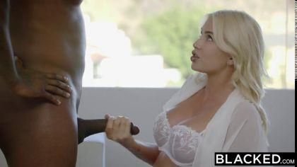 Блондинка изменяет своему бойфренду и трахается раком с темнокожим другом №4